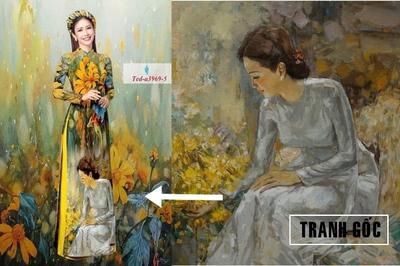 Vi phạm bản quyền tranh in lên áo dài: Của chùa hay hàng chợ?