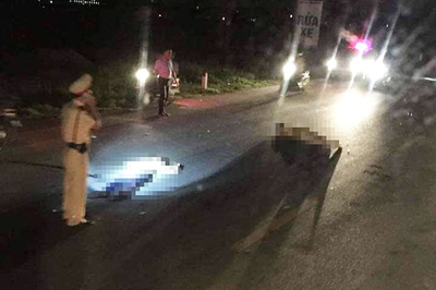 Công an xã tông trung tá cảnh sát giao thông nhập viện