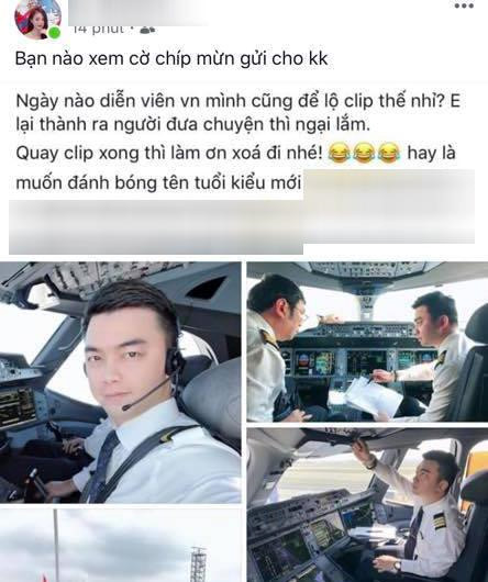 Phi công Hà Duy lên tiếng về thông tin lộ clip nóng