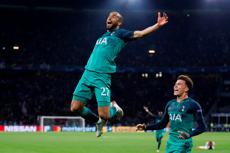 Ajax,Tottenham,Lucas Moura,Eriksen