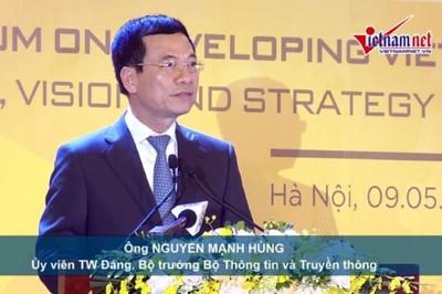 Toàn văn phát biểu khai mạc Diễn đàn QG về Phát triển DN công nghệ VN của Bộ trưởng Nguyễn Mạnh Hùng