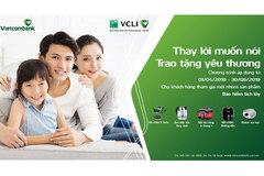 Vietcombank tặng quà giá trị cho khách mua bảo hiểm