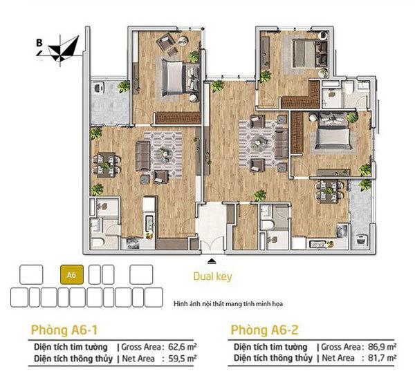 Sức hút nổi bật của căn hộ Dual-key 4PN ở Amber Riverside