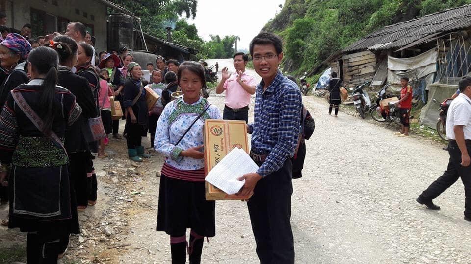 Anh Nông Văn Luân - cán bộ văn hóa xã Lao Chải