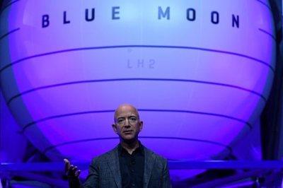 Tỷ phú Jeff Bezos tiết lộ mục tiêu chinh phục Mặt trăng