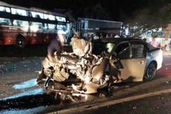 1 cảnh sát giao thông tử nạn trên ô tô biến dạng ở Lâm Đồng