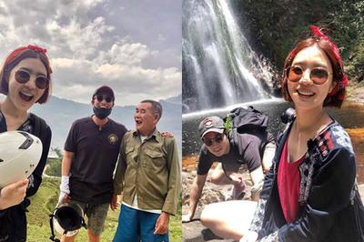 Vợ chồng diễn viên Hàn Quốc tự thuê xe máy đi khắp Sa Pa