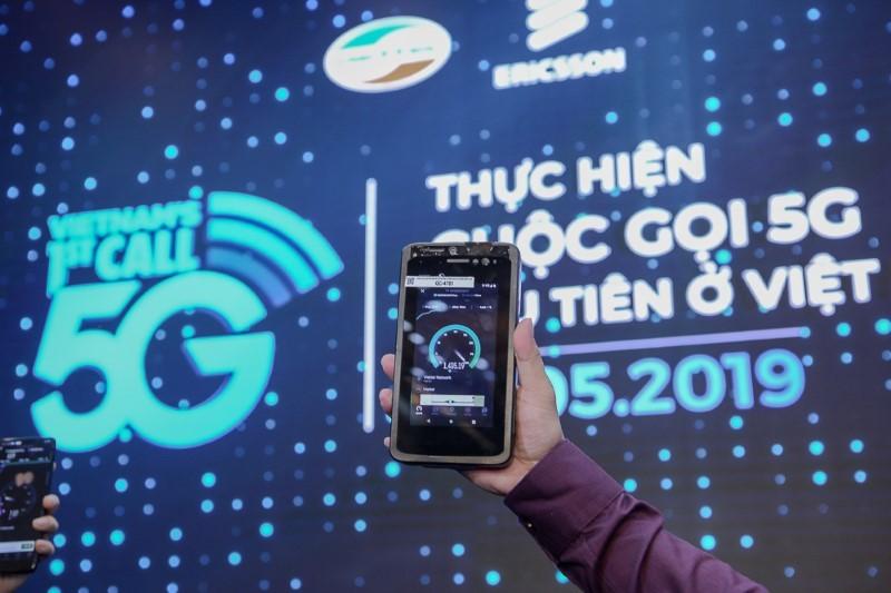5G,thử nghiệm 5G,cuộc gọi 5G đầu tiên,Bộ TT&TT,Viettel,Ericsson
