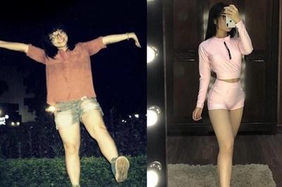 Cô gái giảm 12 kg, 'lột xác' ngoạn mục sau khi chia tay bạn trai