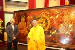 Ra mắt bức tranh 'Đạo pháp và dân tộc' nhân Lễ Phật đản và sinh nhật Bác