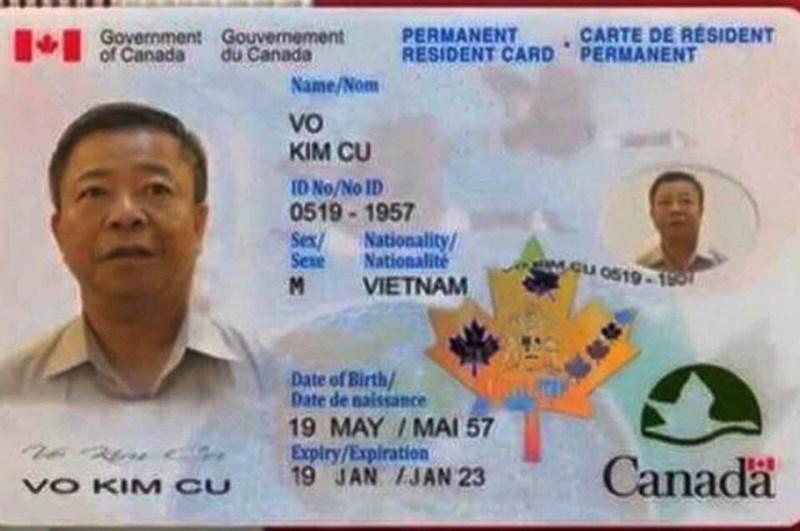 Ông Võ Kim Cự nói về việc 'định cư', 'thẻ xanh' ở Canada