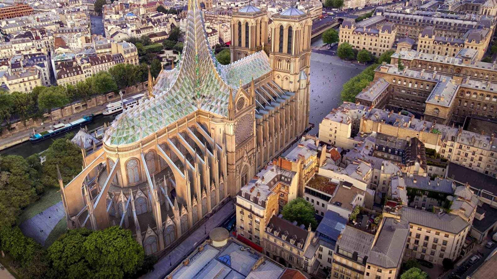 Hình ảnh ấn tượng về ý tưởng Nhà thờ Đức Bà 'xanh'