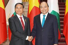 Thủ tướng, Chủ tịch QH hội kiến Tổng thống Myanmar