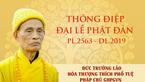 Thông điệp của hoà thượng Thích Phổ Tuệ tới Vesak 2019