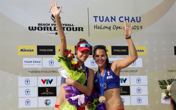 Russians win volleyball world tour in Tuan Chau island