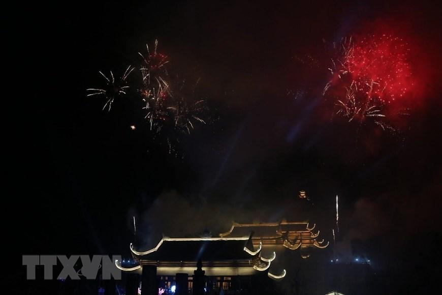 Fireworks display celebrates Vesak 2019