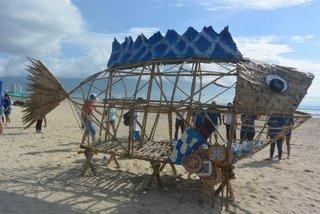 Goby fish bins to 'eat' plastic waste on Da Nang beach