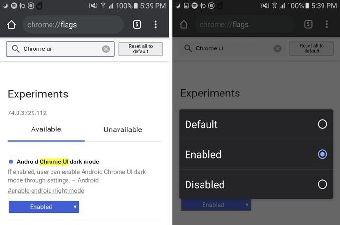 Mẹo bật Dark mode cho Chrome trên Android