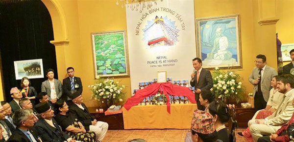 Nepal PM releases book on peace and Buddhism during Hanoi visit