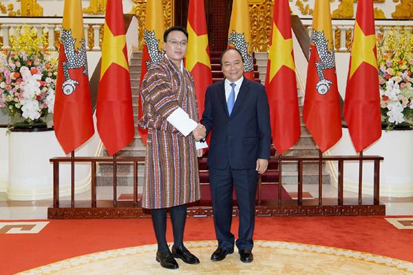 Thủ tướng tiếp Chủ tịch Thượng viện Bhutan