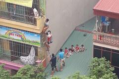 Cháy ở trường mầm non ở Hà Đông, bắc thang giải cứu hàng chục trẻ