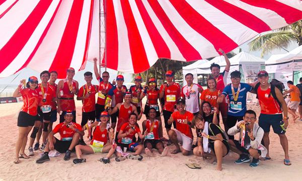 Đội Shopee thi đấu xuất sắc tại Ironman 2019
