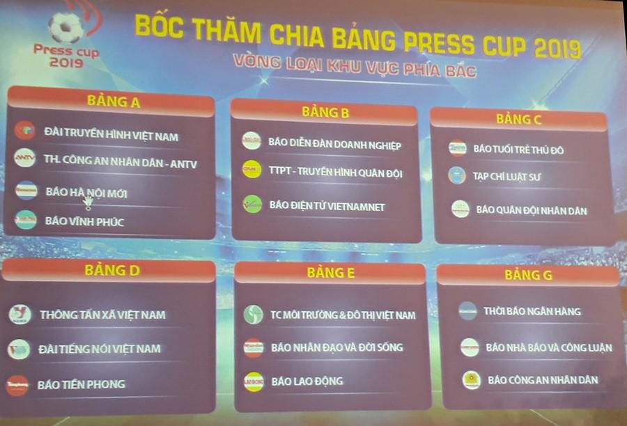 Hơn 40 đội tham dự giải bóng đáPress Cup 2019