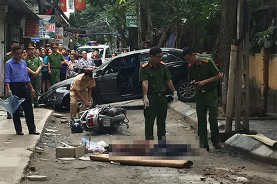 Nữ tài xế Camry lùi xe cán chết người ở Hà Nội là đại tá công an