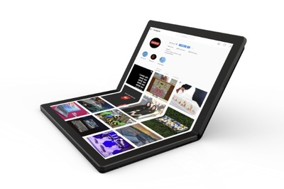 Lenovo lộ diện laptop uốn dẻo