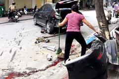 Tai nạn liên hoàn, dòng nước đỏ lênh láng phố Hà Nội