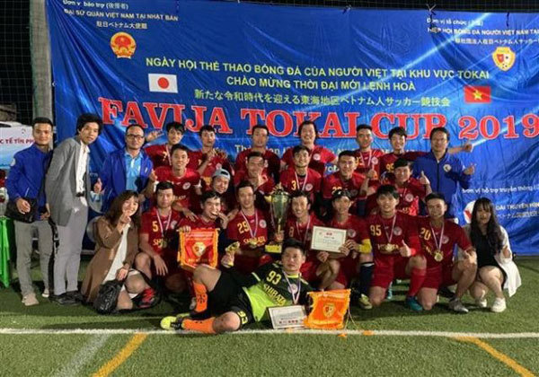 Football tourney connects Vietnamese community in Japan