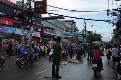 Thiếu nữ trượt ngã trong mưa bị xe tải cán chết thương tâm ở Sài Gòn