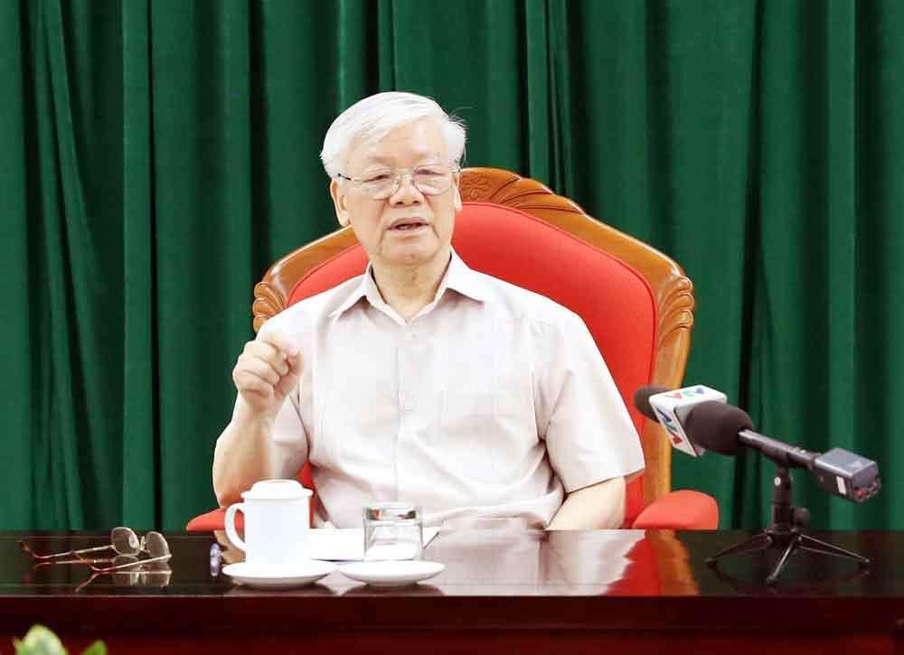 Video Tổng bí thư, Chủ tịch nước phát biểu trước các lãnh đạo chủ chốt