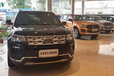 Triệu hồi gần 700 xe SUV Ford Explorer và 200 xe Ecosport tại Việt Nam