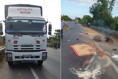 Hai vợ chồng ở Quảng Bình bị xe tải tông mạnh thiệt mạng