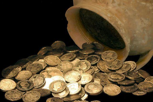 kho báu,tiền vàng