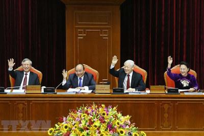 Hình ảnh các lãnh đạo Đảng, Nhà nước tại hội nghị TƯ 10