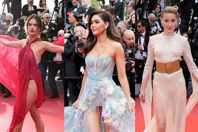 'Mỹ nhân đẹp nhất Thái Lan' lộ nội y trên thảm đỏ