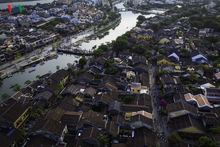 A bird's-eye view of Hoi An gives romantic outlook