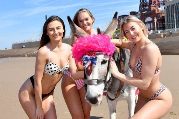 Mới nóng hơn 20 độ C, gái trẻ Anh đã diện bikini 'giải nhiệt'