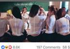 Hình ảnh nữ sinh mặc áo dài trắng trong suốt lộ nội y gây xôn xao vì phản cảm