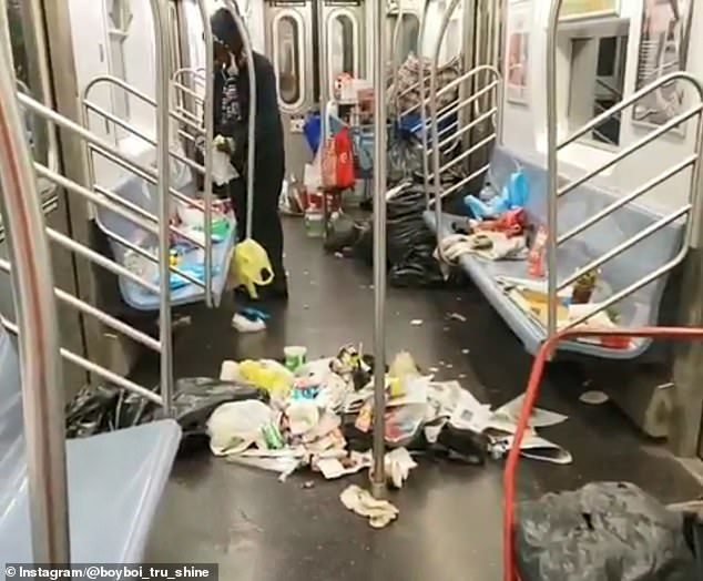 tàu điện ngầm,rác thải,New York