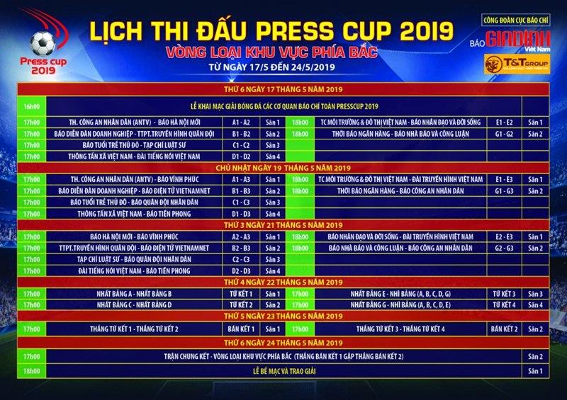 Sôi động lễ khai mạc giải bóng đáPress Cup 2019