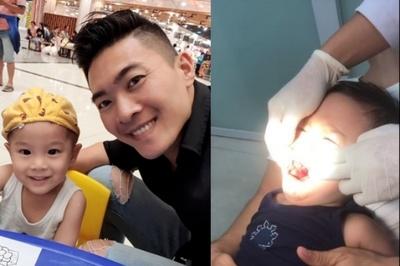 Con trai Quốc Cơ ngã đập miệng vào ghế phải nhập viện