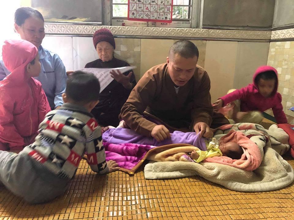 Từ thiện,Mang thai,Mẹ đơn thân,Chùa Mục Đồng,Hưng Yên