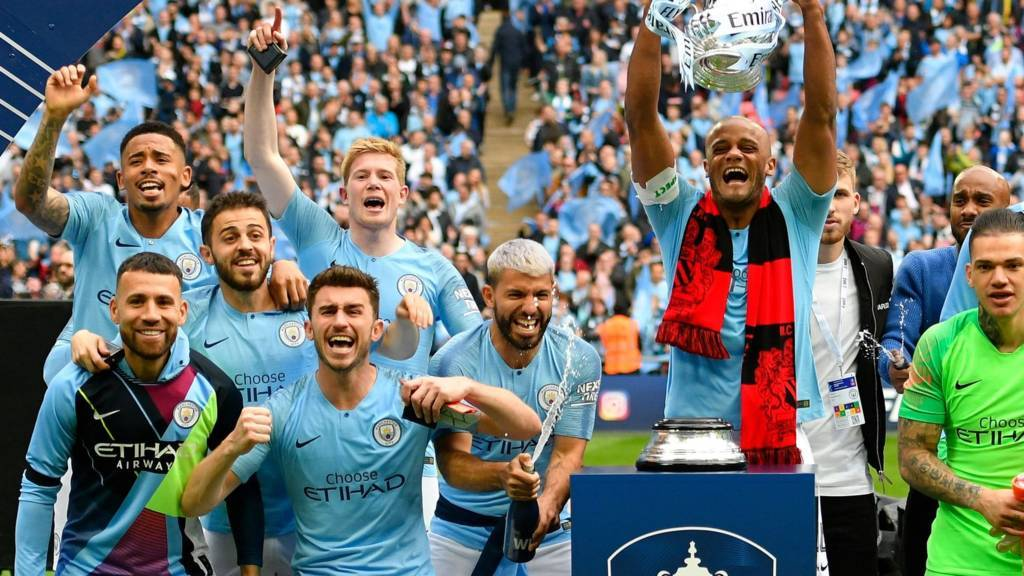 Man City,Pep Guardiola,FA Cup,Man City giành cú ăn ba