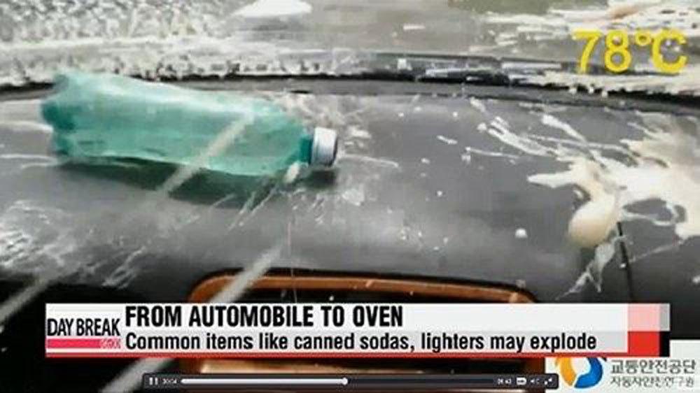Những vật dụng 'chết người' gây nổ trong ô tô dưới trời 40 độ