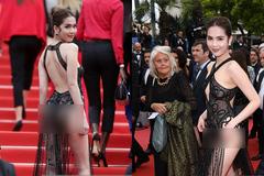 Ngọc Trinh bị chê 'mặc gợi dục' tại Cannes 2019