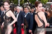 Ngọc Trinh 'mặc như không' thả dáng trên thảm đỏ Cannes, dân mạng Trung Quốc thắc mắc liệu có đi nhầm chỗ?