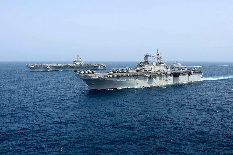 Mỹ,tập trận,Iran,tàu sân bay,siêu tàu chiến